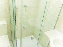 Banheiro do apartamento sem ar